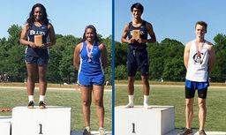 Track and Field State Champions: S'Khaja Charles 2020 and Moss Rerkpattanapipat 2017