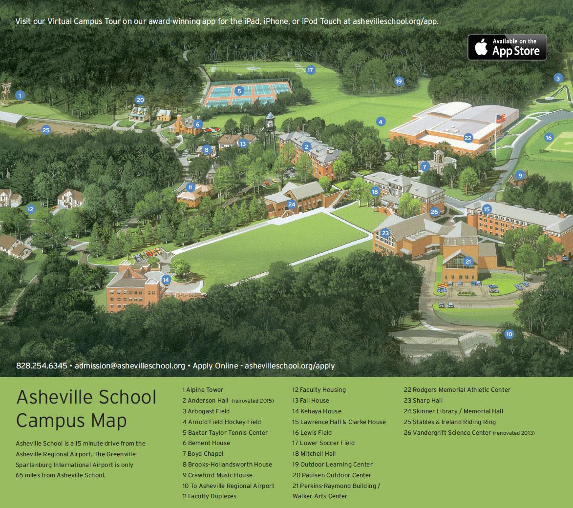 Asheville School   Campus Map